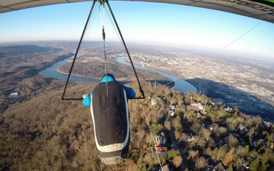 Hang Gliding in a Time Capsule