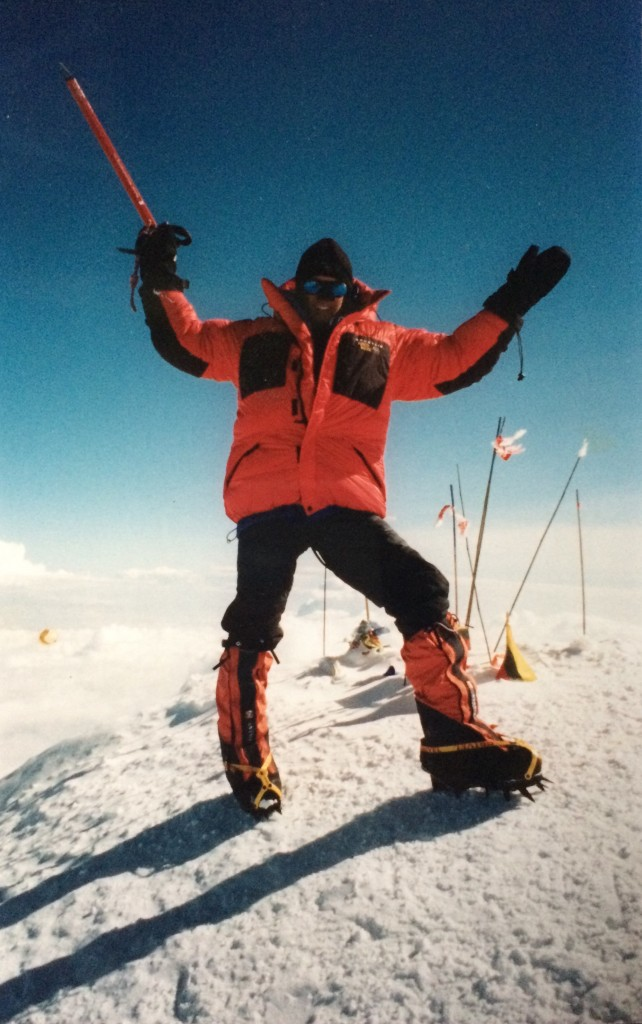 On the summit of Mount McKinley in 2000.
