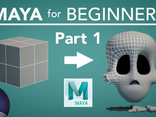 Maya For Beginners Part 1 – 3D Modeling